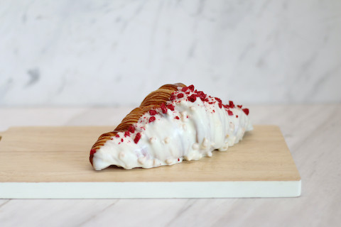 White Chocolate Raspberry Croissant