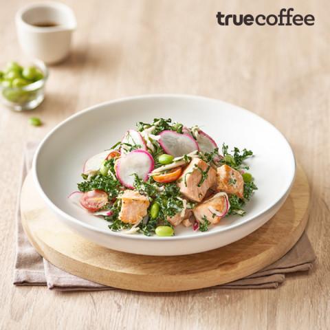 Grilled Salmon Kale Salad