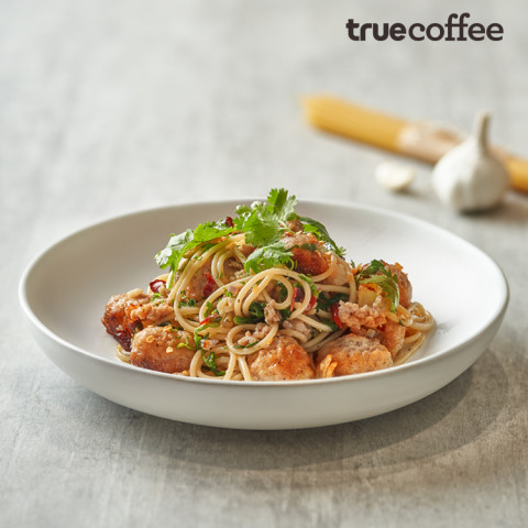 Spaghetti Meat Ball with Mackarel