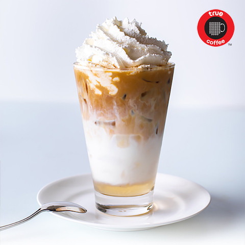 Iced English Toffee Latte