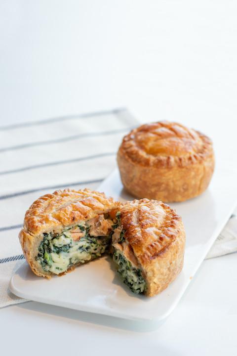 Salmon Spinach Pot Pie