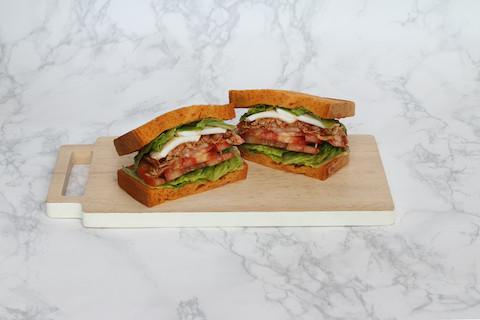 Paprika Bread Sandwich with BBQ Pork